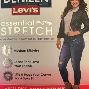 LEVI'S HIGH-RISE SKINNY ANKLE JEANS 16S